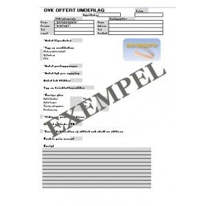 Offert mall OVK ventilation