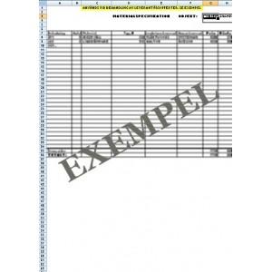 Materialspecifikation VVS