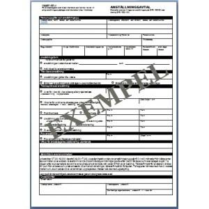 Anställningsavtal (alla typer) VVS