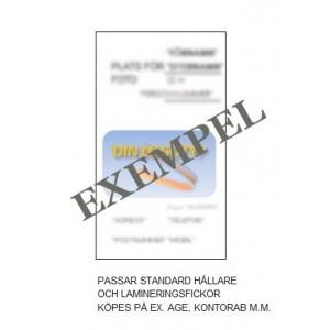 ID brickor för anställda (alla typer) VVS